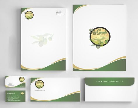 Business cards and stationery of an Olive Oil Company Business Cards and Stationery  Draft # 167 by Deck86