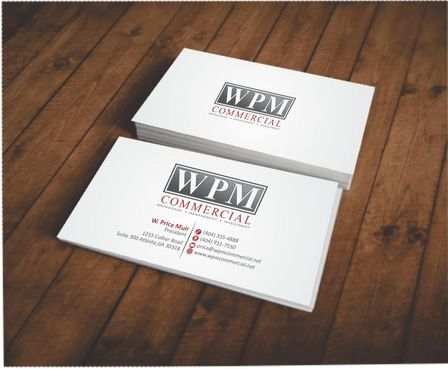 WPM Commercial Business Cards and Stationery  Draft # 123 by Deck86