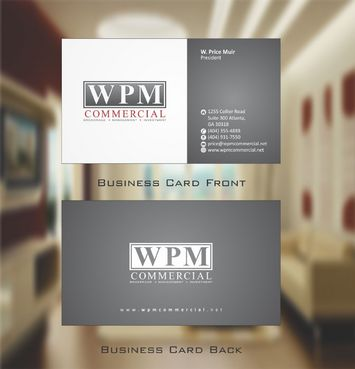 WPM Commercial Business Cards and Stationery  Draft # 148 by Deck86