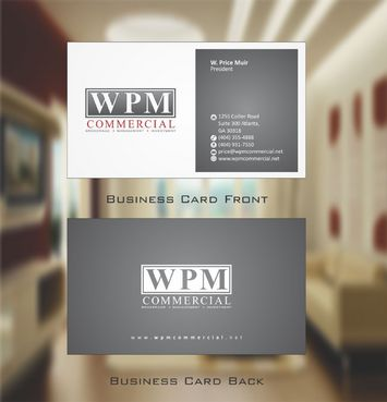 WPM Commercial Business Cards and Stationery  Draft # 149 by Deck86