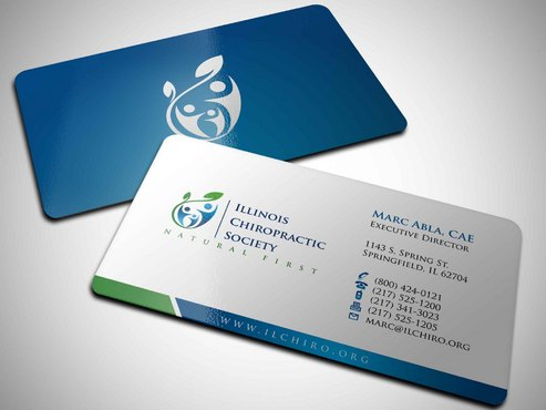 Illinois Chiropractic Society Business Cards and Stationery  Draft # 4 by Xpert