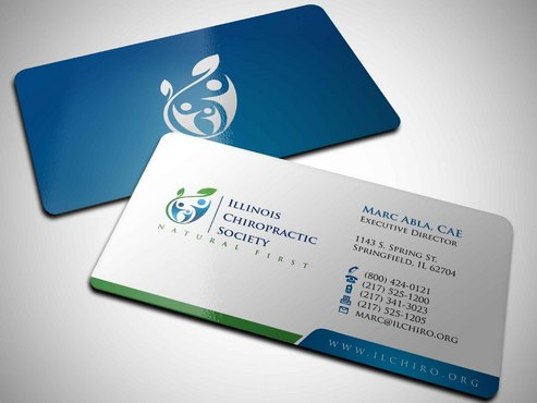 Illinois Chiropractic Society Business Cards and Stationery  Draft # 5 by Xpert
