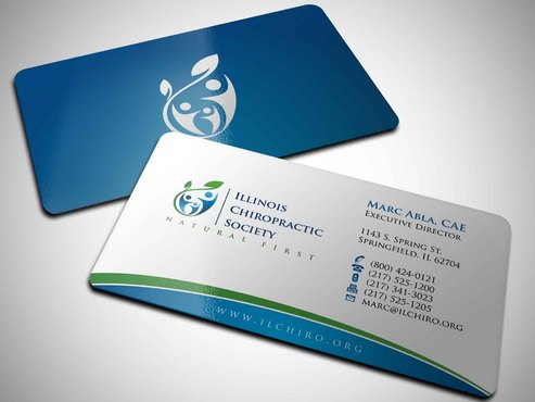 Illinois Chiropractic Society Business Cards and Stationery  Draft # 6 by Xpert