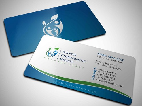 Illinois Chiropractic Society Business Cards and Stationery  Draft # 7 by Xpert
