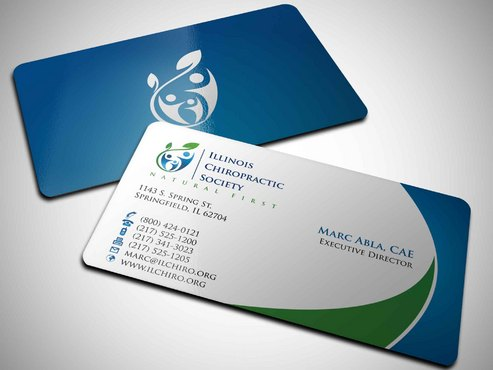 Illinois Chiropractic Society Business Cards and Stationery  Draft # 8 by Xpert