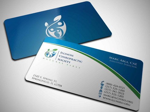 Illinois Chiropractic Society Business Cards and Stationery  Draft # 9 by Xpert
