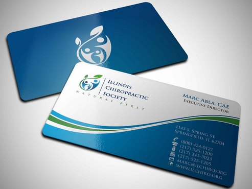 Illinois Chiropractic Society Business Cards and Stationery  Draft # 10 by Xpert