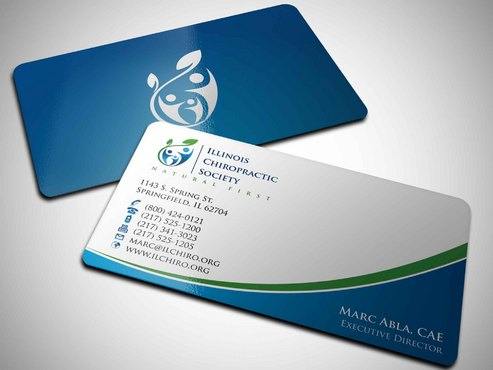 Illinois Chiropractic Society Business Cards and Stationery  Draft # 11 by Xpert