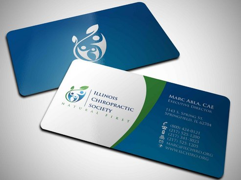 Illinois Chiropractic Society Business Cards and Stationery  Draft # 13 by Xpert