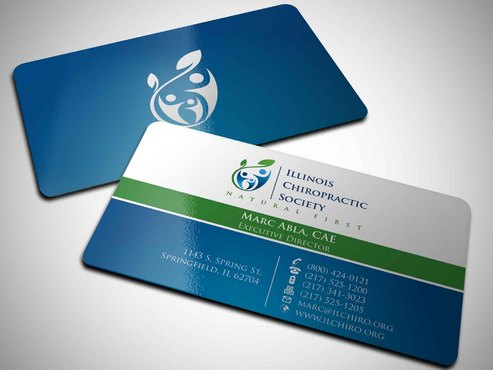 Illinois Chiropractic Society Business Cards and Stationery  Draft # 14 by Xpert