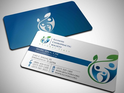 Illinois Chiropractic Society Business Cards and Stationery  Draft # 17 by Xpert