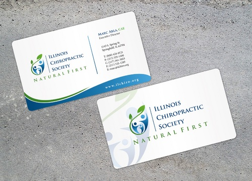 Illinois Chiropractic Society Business Cards and Stationery  Draft # 46 by i3designer