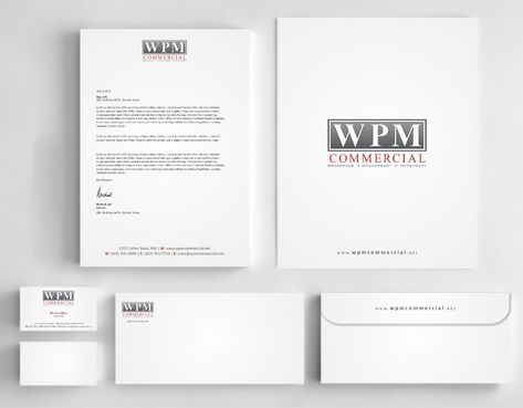 WPM Commercial Business Cards and Stationery  Draft # 199 by Deck86