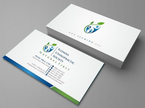 Illinois Chiropractic Society Business Cards and Stationery  Draft # 118 by Deck86