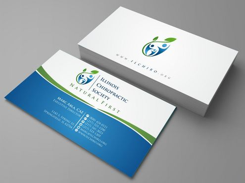 Illinois Chiropractic Society Business Cards and Stationery  Draft # 120 by Deck86