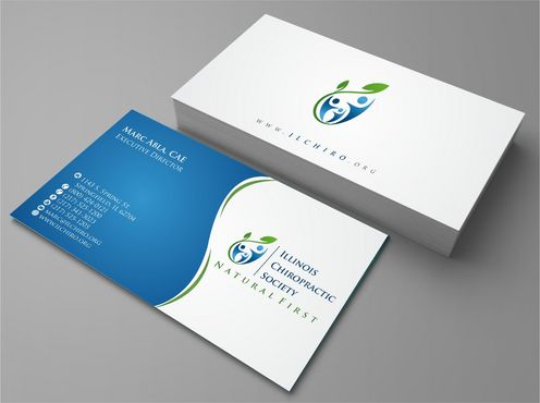 Illinois Chiropractic Society Business Cards and Stationery  Draft # 133 by Deck86