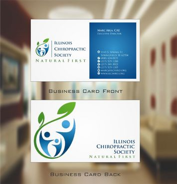 Illinois Chiropractic Society Business Cards and Stationery  Draft # 138 by Deck86