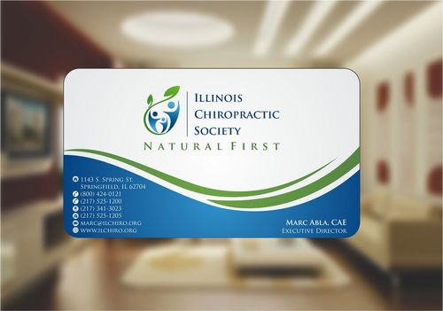 Illinois Chiropractic Society Business Cards and Stationery  Draft # 143 by Deck86