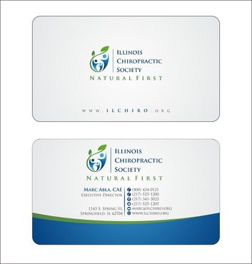 Illinois Chiropractic Society Business Cards and Stationery  Draft # 144 by Deck86