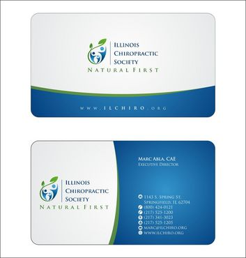 Illinois Chiropractic Society Business Cards and Stationery  Draft # 145 by Deck86