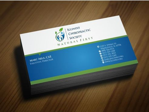 Illinois Chiropractic Society Business Cards and Stationery  Draft # 149 by Deck86