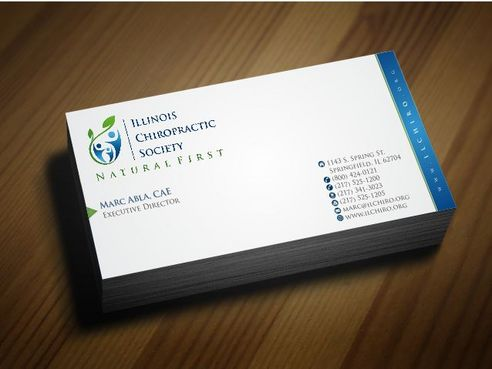Illinois Chiropractic Society Business Cards and Stationery  Draft # 153 by Deck86