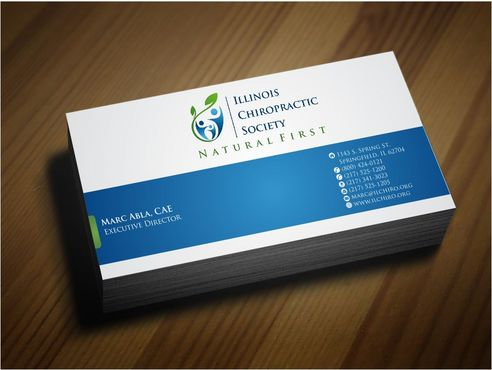 Illinois Chiropractic Society Business Cards and Stationery  Draft # 154 by Deck86