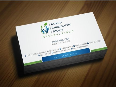 Illinois Chiropractic Society Business Cards and Stationery  Draft # 155 by Deck86