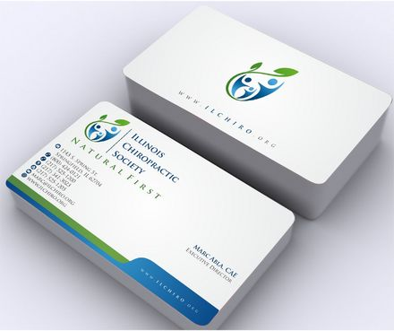 Illinois Chiropractic Society Business Cards and Stationery  Draft # 158 by Deck86