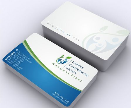 Illinois Chiropractic Society Business Cards and Stationery  Draft # 159 by Deck86