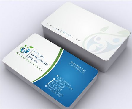Illinois Chiropractic Society Business Cards and Stationery  Draft # 161 by Deck86