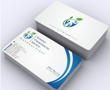 Illinois Chiropractic Society Business Cards and Stationery  Draft # 163 by Deck86