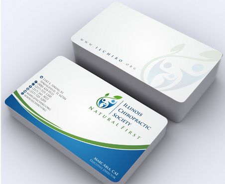 Illinois Chiropractic Society Business Cards and Stationery  Draft # 167 by Deck86