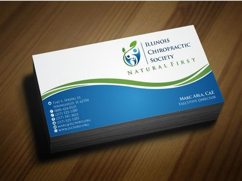 Illinois Chiropractic Society Business Cards and Stationery  Draft # 168 by Deck86