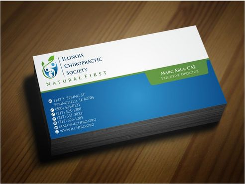 Illinois Chiropractic Society Business Cards and Stationery  Draft # 170 by Deck86