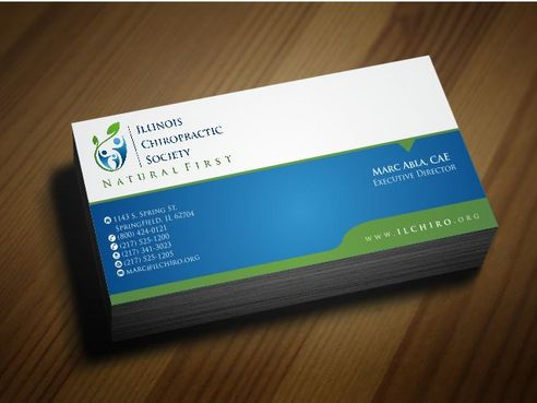 Illinois Chiropractic Society Business Cards and Stationery  Draft # 171 by Deck86