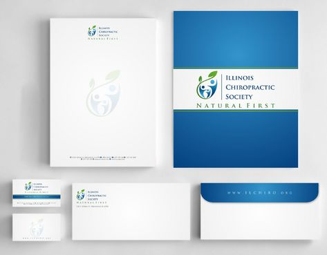 Illinois Chiropractic Society Business Cards and Stationery  Draft # 189 by Deck86