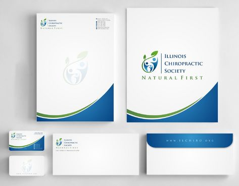 Illinois Chiropractic Society Business Cards and Stationery  Draft # 188 by Deck86