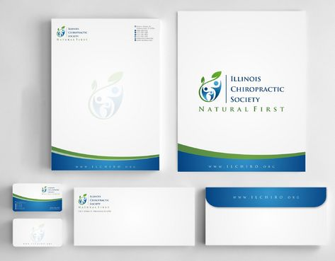 Illinois Chiropractic Society Business Cards and Stationery  Draft # 192 by Deck86