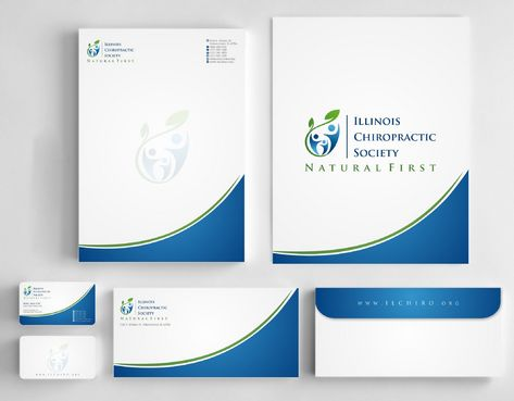 Illinois Chiropractic Society Business Cards and Stationery  Draft # 191 by Deck86