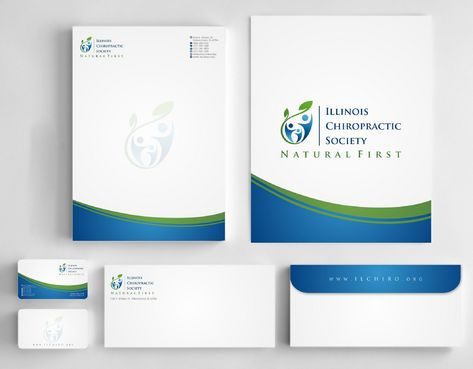 Illinois Chiropractic Society Business Cards and Stationery  Draft # 193 by Deck86