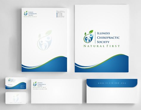 Illinois Chiropractic Society Business Cards and Stationery  Draft # 194 by Deck86