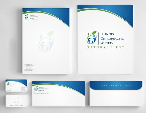 Illinois Chiropractic Society Business Cards and Stationery  Draft # 195 by Deck86