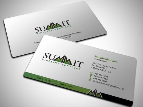 Business card for company with new logo