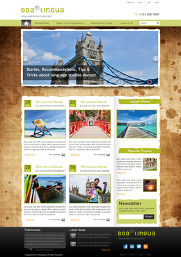 blog template about travelling, life experience and learning language abroad