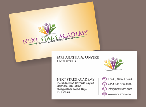 Business card and stationery for School Business Cards and Stationery  Draft # 47 by 12345C0