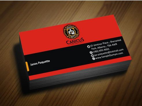 Canicus Business Cards and Stationery  Draft # 96 by Deck86