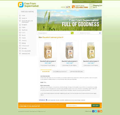 free from supermarket - full of goodness Web Design  Draft # 3 by timefortheweb