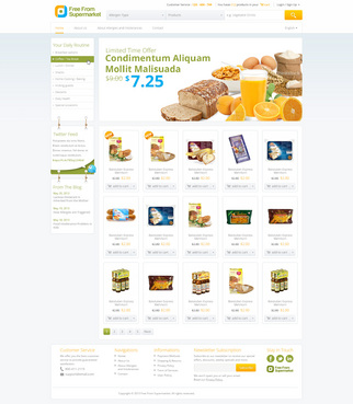 free from supermarket - full of goodness Web Design  Draft # 9 by hamdirizal