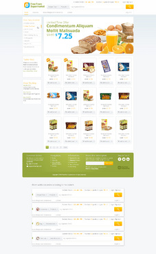 free from supermarket - full of goodness Web Design  Draft # 10 by hamdirizal